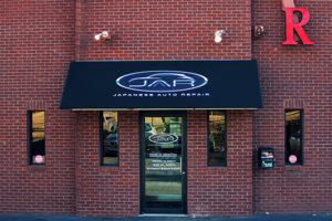 Front Door of Auto Repair Shop