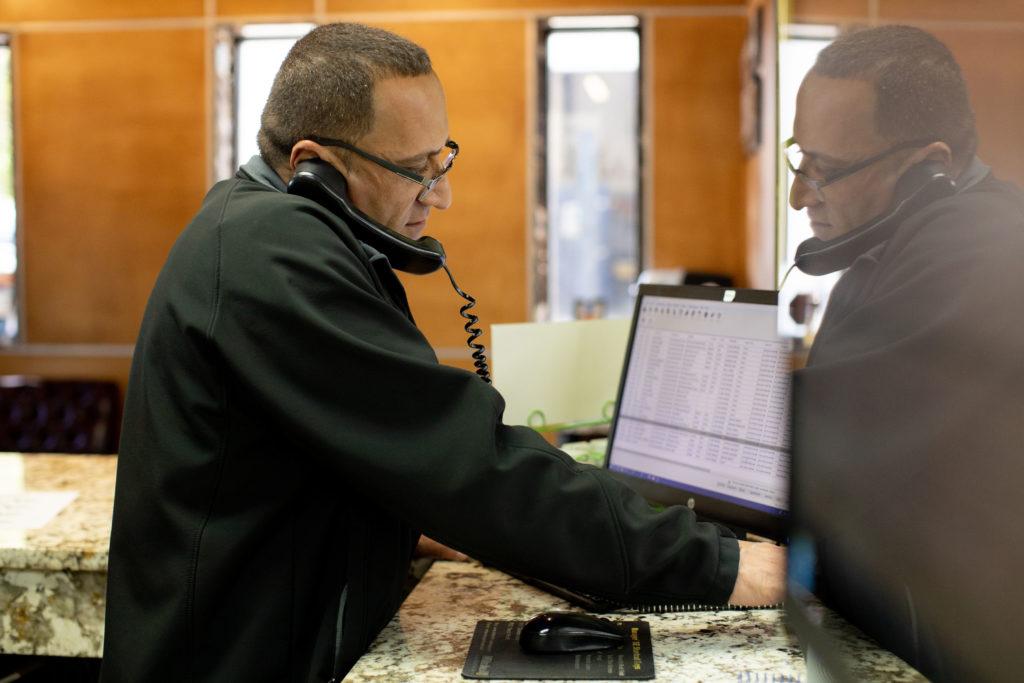 Taking customer service calls